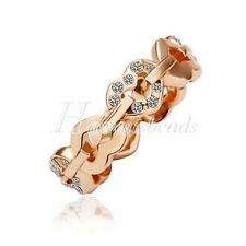 Unbranded Rose Gold Plated Stone Fashion Rings