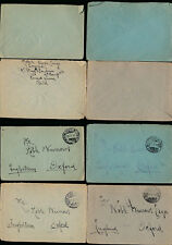 ITALY WW1 SOLDIERS MAIL 1916 POST MILITAIRE LUIGI PIAZZA to NOBLE BURROWS 4 ENVS