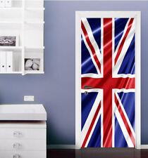 3D British Flag 4 Door Wall Mural Photo Wall Sticker Decal AJ WALLPAPER CA