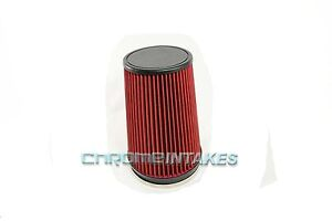 """RED 1989 UNIVERSAL 152mm 6"""" INCHES DIAMETER TRUCK DRY AIR INTAKE FILTER"""