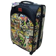 MARVEL HEROES Licensed LARGE Retro Collection Comics ROLLING Soft Shell SUITCASE
