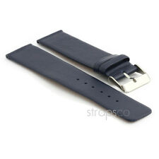 StrapsCo Genuine Matte Leather Watch Band Modern Style Strap Mens or Womens
