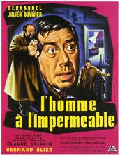 L'homme à l'imperméable Fernandel French movie poster