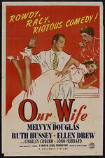Our Wife 1941 DVD Melvyn Douglas, Ruth Hussey, Ellen Drew, Charles Coburn