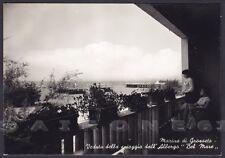 GROSSETO CITTÀ 34 MARINA DI GROSSETO SPIAGGIA HOTEL Cartolina FOTOGR. viagg 1961