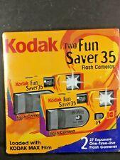 2-Pack Kodak Fun Saver 35 Flash Cameras 27 Exposures Factory Sealed Expired