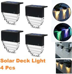 Solar Powered LED Deck Lights Path Garden Pathway Stairs Step Fence Lamp Outdoor