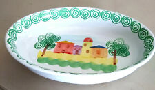 New listing Made In Italy Oversized Serving Bowl, Hand-painted, Homstead