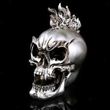 Punk Demon Skull Ghost Evil Skeleton Head Resin Figurine Figure Party Favor