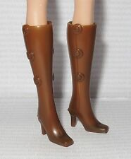 SHOES ~ MATTEL BARBIE DOLL VERONICA BROWN SNAP ON CALF BOOTS SHOES ACCESSORY