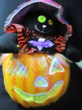 Halloween Decoration Color Animated Fiber Optic Pumpkin Jack-O-Lantern Cat Witch