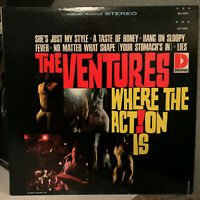 """THE VENTURES - Where The Action Is (Dolton) - 12"""" Vinyl Record LP - EX"""