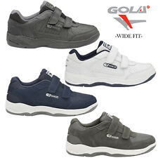 Gola Belmont Wide Fit EE Mens Leather Or Suede Trainers Size 7-15 UK Touch Strap