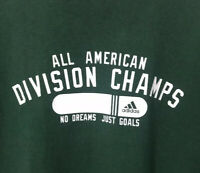 Adidas Mens Cotton Tee Green Size Large No Dreams Just Goals 2005 EUC