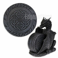 6 CELTIC DESIGNED COASTER PLACE MATS WITH DRAGON LAIR FANTASY GOTHIC HOLDER