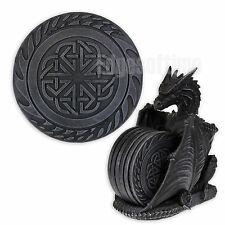DRAGON LAIR GOTHIC FANTASY COASTER SET WITH SIX CELTIC DESIGNED PLACE MATS