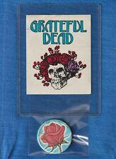 GRATEFUL DEAD SUMMER TOUR 1982-KANSAS CITY VINTAGE BUTTON & STICKER
