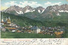 AK aus Kitzbügel gegen das Kaisergebirge, Tirol    (D11)