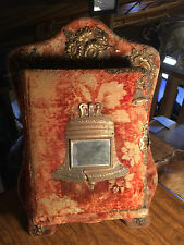 Vintage Victorian Velvet Cover with Brass Accent Stand Up Photo Album