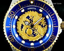 47MM Invicta Pro Diver GOLD DRAGON Automatic Two-Tone Blue Bezel Bracelet Watch