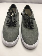 Ralph Lauren POLO Felton Gray CANVAS Casual Sneakers Boat Deck Shoes Mens 8.5D