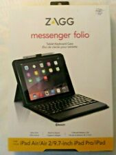 "ZAGG Messenger Folio Case Bluetooth Tablet Keyboard iPad Mini 5 (7.9"") #17351-15"