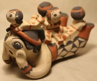Storyteller Native Figure JEMEZ PUEBLO New Mexico C.P. Woman w/ 4 Babies on Back