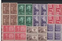 united states mint never hinged stamps blocks ref 13655