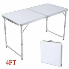 4Ft Folding Table Indoor Outdoor Bbq Portable Plastic Picnic Party Camp Tables