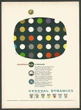 GENERAL DYNAMICS Diversifications in Electronics - 1955 Vintage Print Ad