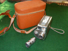 Keystone Olympic Turret Model K-38 8mm Roll Film Camera 2 Lenses case
