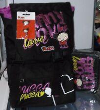 Schoolpack PUCCA Seven - zaino estensibile + ast 3 zip col. nero + magneti