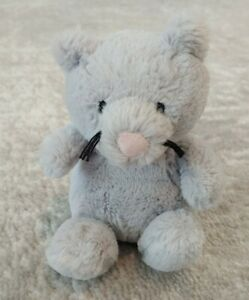 """Jellycat Mini Stuffed Animal Plush RARE Little Poppet Kitten Gray Kitty Cat 6"""""""