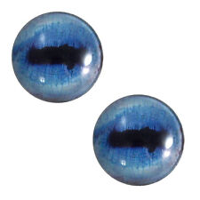 Pair of 30mm Blue Goat Glass Eyes for Jewelry Pendants or Taxidermy Doll Making