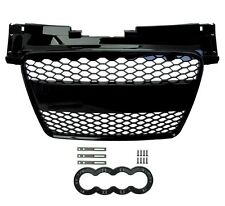 Gloss Black Front Conversion Grille RS style Audi TT Honeycomb mesh 2008-14 8J