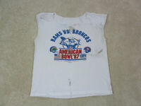 VINTAGE Denver Broncos Shirt Adult Large White Blue American Bowl Football Men *