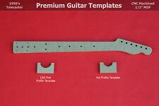 "Telecaster Guitar Neck Router Templates w Back Profiles CNC TELE 1/2"" MDF  0.5"""