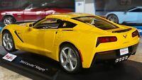 2014 Chevrolet Corvette Stingray Yellow Maisto 1:18 Scale Diecast Model Car NIB