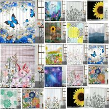 Abstract Pattern Shower Curtains Bathroom Hanging Curtains Shower Blind 12 Hooks