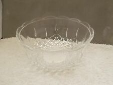 LARGE CRYSTAL GLASS SERVING / FRUIT  BOWL     NO MAKER
