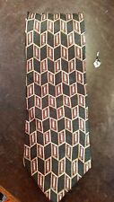 Bill Blass Neo Green Red Geometric Executive Designer Mens Necktie Free Shipping