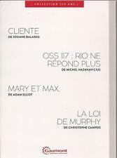"""DVD """"Cliente,oss 117 Rio ne repond plus,Mary et Max,La loi de Murphy"""""""