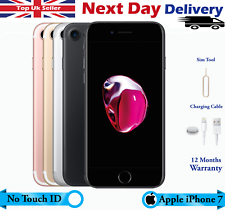 Apple iPhone 7 32GB 128GB 256GB Desbloqueado Color Touch ID no funcionará Excelente UK