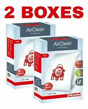 Miele FJM Vacuum Bags - 3D AirClean - 4 HEPA Bags & 2 Filters Per Box - 2 BOXES