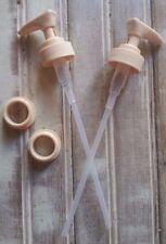 2 DIY Tan Soap Pump Mason Jar Plastic Dispenser Pump