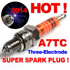 Spark Plug A7TC A7TJC 3 Electrode GY6 50-125cc Moped Scooter ATV Quads Hot Sale