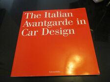 THE ITALIAN AVANTGARDE in CAR DESIGN BOOK~AUTOMOBILIA
