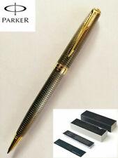 Parker Sonnet Cisele Black Grid Color Gold Clip 0.7mm Ballpoint Pen With Box