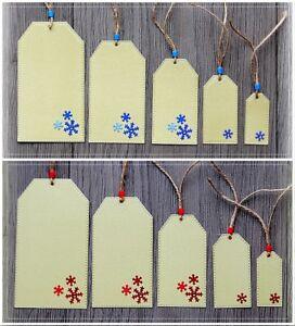 Pack of 5 Beautiful Luxury Handmade Christmas Gift Tags