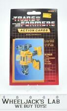 Bumblebee Sealed Pack Card #28 of Transformers Trading Action Cards 1985 G1